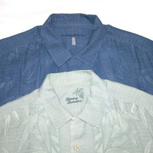 Tommy Bahama Short Sleeve Button Front Silk Shirts